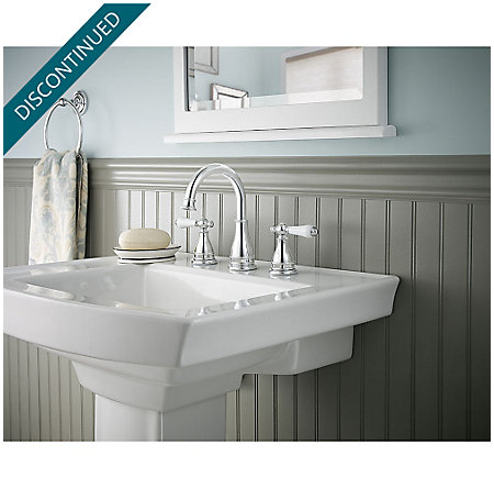 Polished Chrome Sonterra Widespread Bath Faucet - F-WL8-SNPC - 3