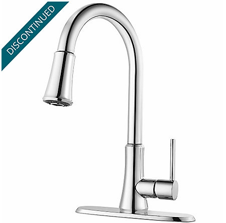 Polished Chrome Pfirst Series Pull-Down Kitchen Faucet - G-529-PFCC - 2