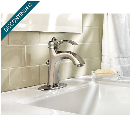 Brushed Nickel Portola Single Control, Centerset Bath Faucet - GT42-RP0K - 4