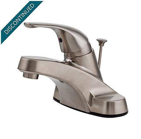 Brushed Nickel Pfirst Series Centerset Bath Faucet - G142-800K - 1