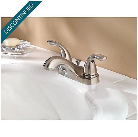 Brushed Nickel Pfirst Series Centerset Bath Faucet - G143-610K - 2
