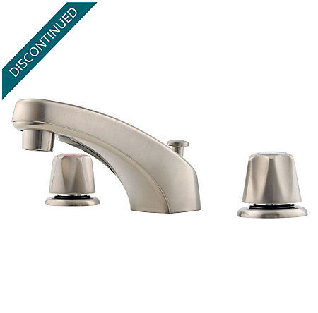 Brushed Nickel Pfirst Series Widespread Bath Faucet - G149-600K - 1