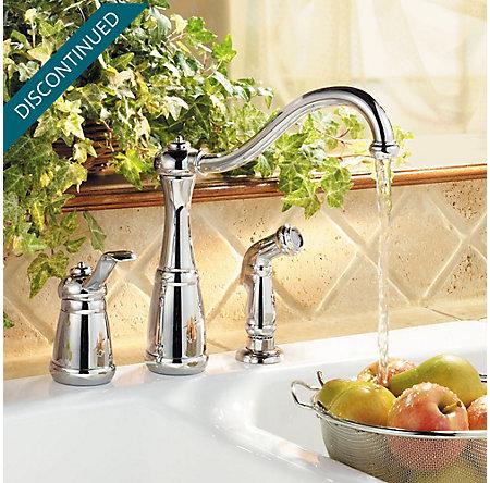 Polished Chrome Marielle 1-Handle Kitchen Faucet - GT26-3NCC - 2