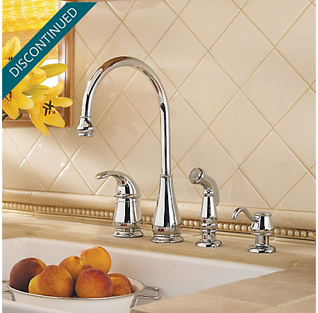 Polished Chrome Treviso 1-Handle Kitchen Faucet - GT26-4DCC - 2