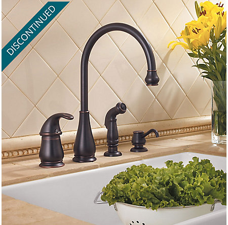 Tuscan Bronze Treviso 1-Handle Kitchen Faucet - GT26-4DYY - 2