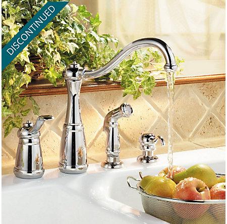 Polished Chrome Marielle 1-Handle Kitchen Faucet - GT26-4NCC - 2