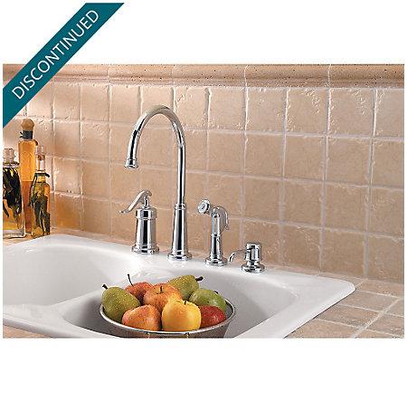 Polished Chrome Ashfield 1-Handle Kitchen Faucet - GT26-4YPC - 2