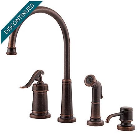 Rustic Bronze Ashfield 1-Handle Kitchen Faucet - LG26-4YPU - 1