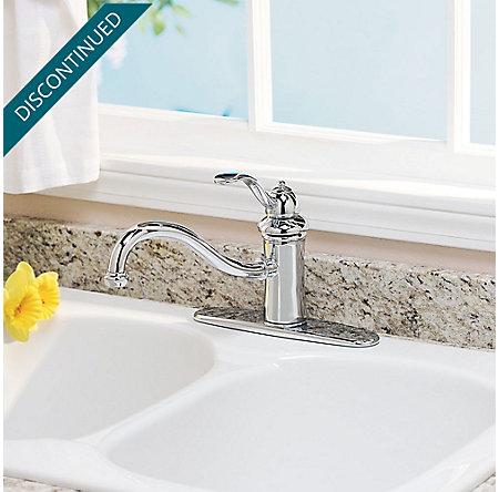 Polished Chrome Marielle 1-Handle Kitchen Faucet - GT34-1TCC - 2