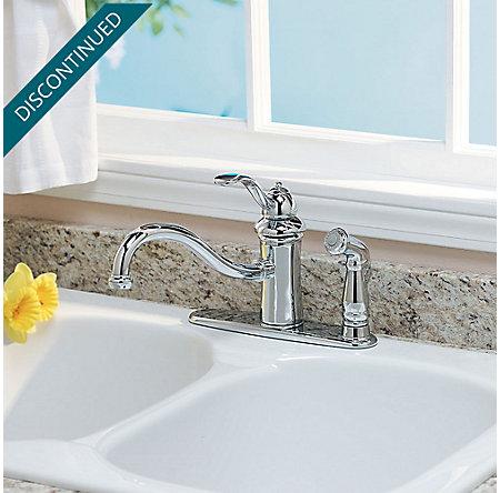 Polished Chrome Marielle 1-Handle Kitchen Faucet - GT34-3TCC - 2