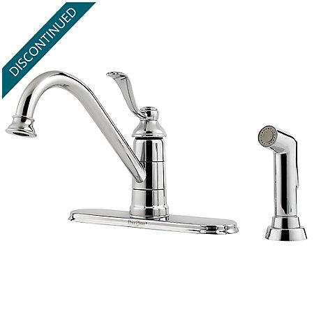 Polished Chrome Portland 1-Handle Kitchen Faucet - GT34-4PC0 - 1