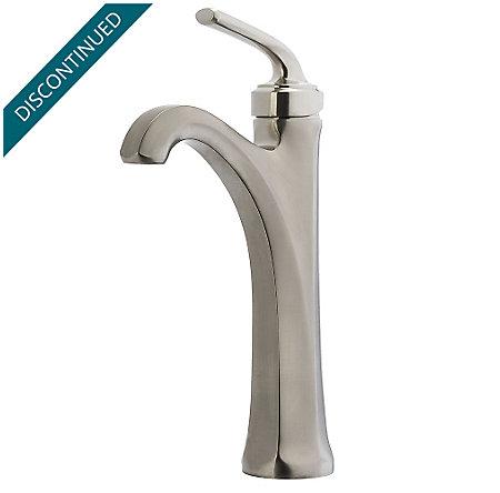 Brushed Nickel Arterra Single Handle Vessel Faucet - GT40-DE0K - 1