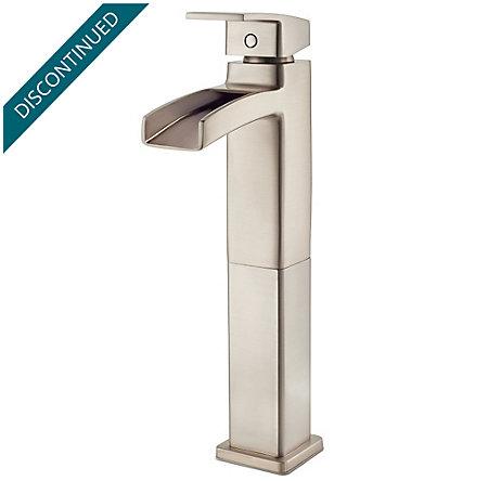 Brushed Nickel Kenzo Single Handle Vessel Faucet - GT40-DF0K - 1