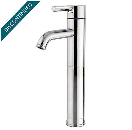 Polished Chrome Contempra Single Handle Vessel Faucet - GT40-NC00 - 1