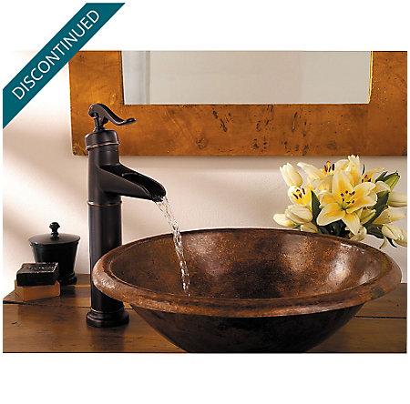 Tuscan Bronze Ashfield Single Handle Vessel Faucet - GT40-YP0Y - 3