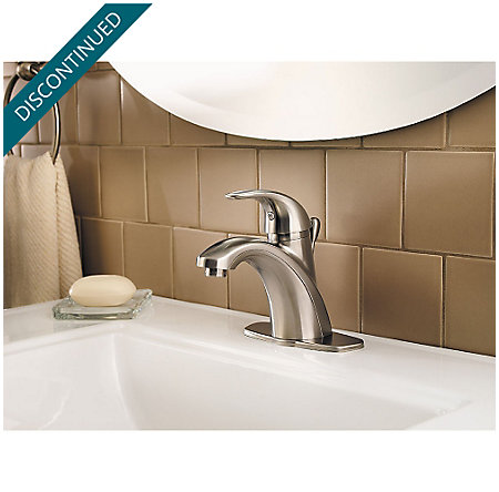 Brushed Nickel Parisa Single Control, Centerset Bath Faucet - GT42-AMCK - 5