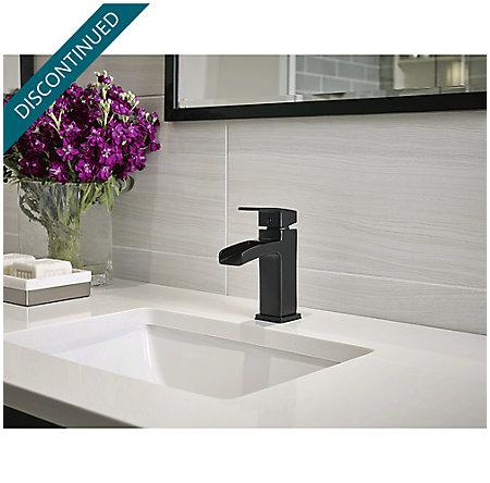 Black Kenzo Single Control, Centerset Bath Faucet - GT42-DF0B - 2