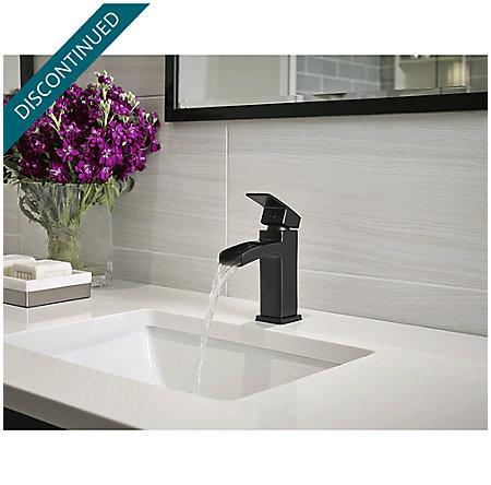 Black Kenzo Single Control, Centerset Bath Faucet - GT42-DF0B - 3