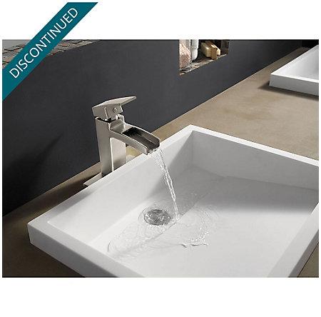 Brushed Nickel Kenzo Single Control, Centerset Bath Faucet - GT42-DF0K - 3
