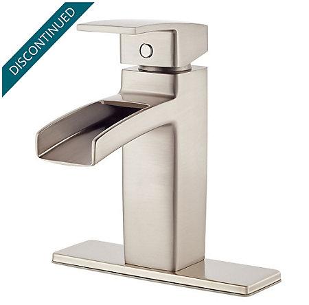 Brushed Nickel Kenzo Single Control, Centerset Bath Faucet - GT42-DF0K - 2