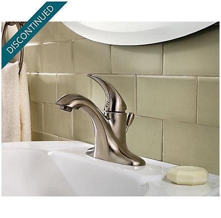 Brushed Nickel Serrano Single Control Bath Faucet - GT42-SR0K - 2