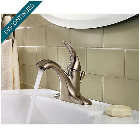 Brushed Nickel Serrano Single Control Bath Faucet - GT42-SR0K - 3