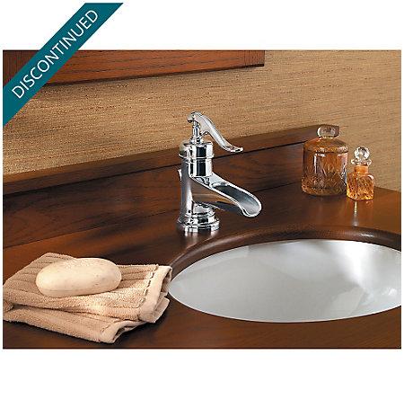 Polished Chrome Ashfield Single Control, Centerset Bath Faucet - GT42-YP0C - 3