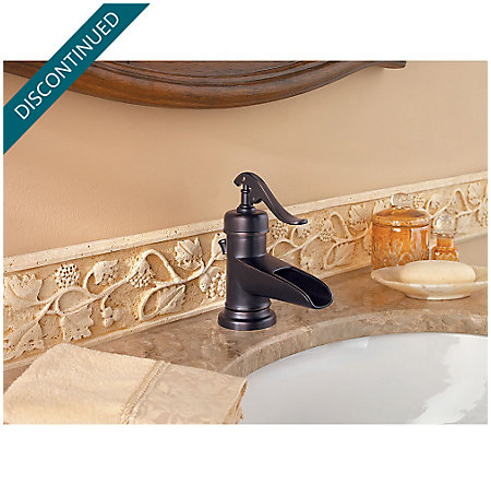 Tuscan Bronze Ashfield Single Control, Centerset Bath Faucet - GT42-YP0Y - 3