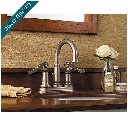 Rustic Pewter Ashfield Centerset Bath Faucet - GT43-YP0E - 2