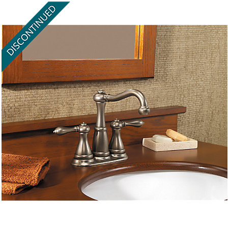 rustic pewter marielle mini-widespread bath faucet - gt46-m0be - 2