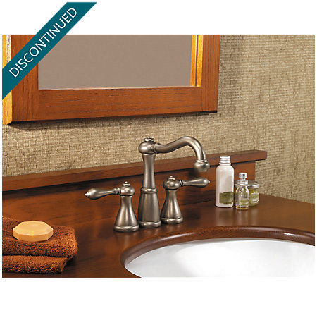 rustic pewter marielle mini-widespread bath faucet - gt46-m0be - 3