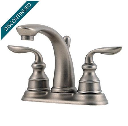 Rustic Pewter Avalon Centerset Bath Faucet - GT48-CB0E - 1