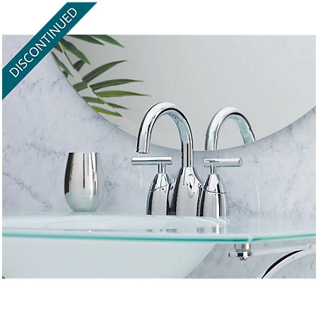 Polished Chrome Contempra Centerset Bath Faucet - GT48-NC00 - 2
