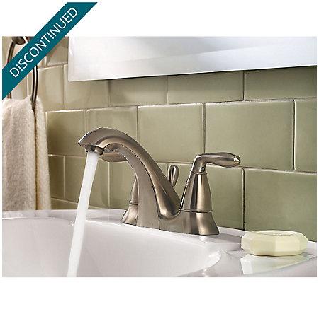 Brushed Nickel Serrano Centerset Bath Faucet - GT48-SR0K - 3