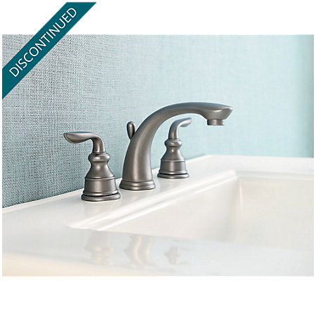 Rustic Pewter Avalon Widespread Bath Faucet - GT49-CB0E - 2