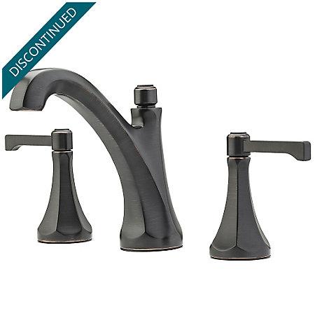 "Tuscan Bronze Arterra 8"" Widespread Lavatory Faucet - GT49-DE0Y - 1"