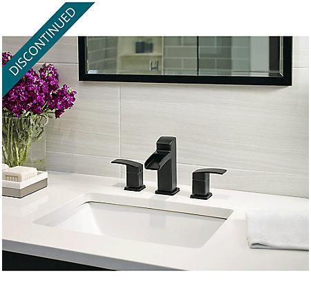 Black Kenzo Widespread Bath Faucet - GT49-DF0B - 2