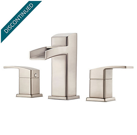 Brushed Nickel Kenzo Widespread Bath Faucet - GT49-DF0K - 1