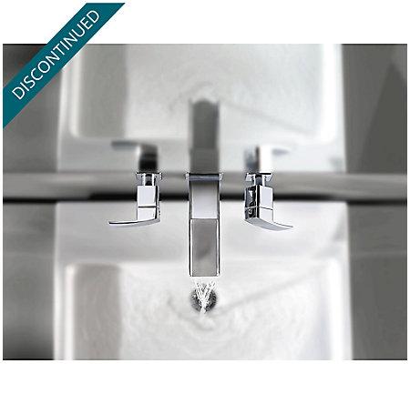 Brushed Nickel Kenzo Wall Mount Widespread Trough Bath Faucet - GT49-DF1K - 6