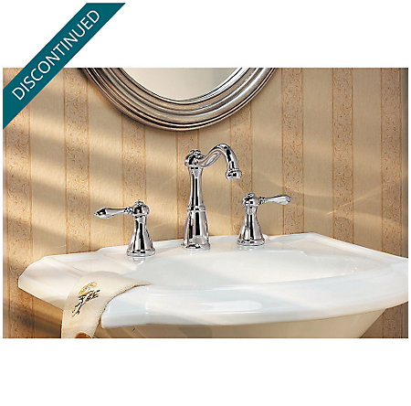 Polished Chrome Marielle Widespread Bath Faucet - GT49-M0BC - 2