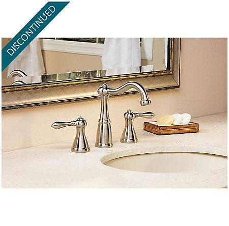 Brushed Nickel Marielle Widespread Bath Faucet - GT49-M0BK - 2