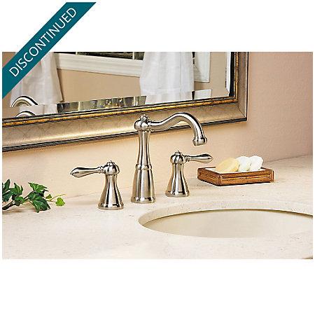 Brushed Nickel Marielle Widespread Bath Faucet - GT49-M0BK - 3