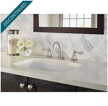Brushed Nickel Portola Widespread Bath Faucet - GT49-RP0K - 3