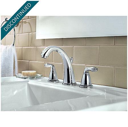 Polished Chrome Serrano Widespread Bath Faucet - GT49-SR0C - 2