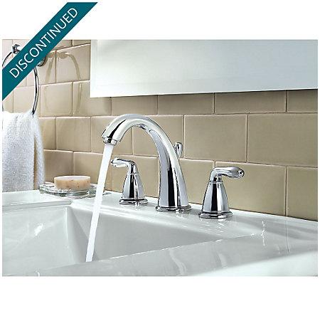 Polished Chrome Serrano Widespread Bath Faucet - GT49-SR0C - 3