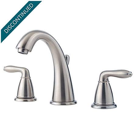 Brushed Nickel Serrano Widespread Bath Faucet - GT49-SR0K - 1