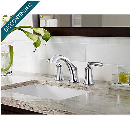 Polished Chrome Iyla Widespread Bath Faucet - GT49-TR0C - 2
