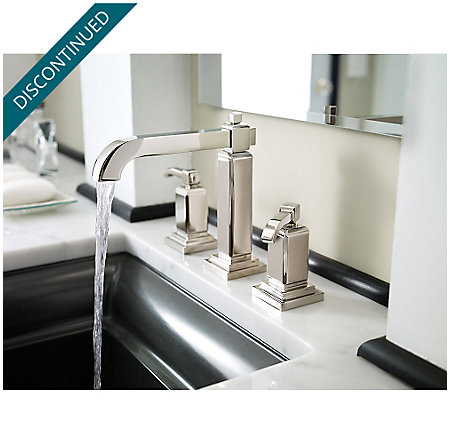 Polished Nickel Carnegie Widespread Bath Faucet - GT49-WE0D - 2