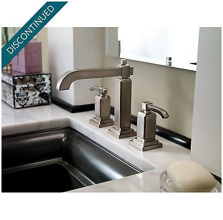 Brushed Nickel Carnegie Widespread Bath Faucet - GT49-WE0K - 2