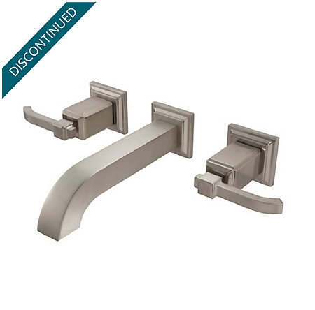 Brushed Nickel Carnegie Wall Mount Bath Faucet - GT49-WE1K - 1